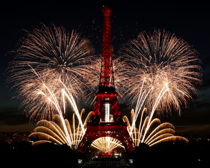 Ruggieri Pyrotechnie Fête Nationale Paris 2017 Tour Eiffel